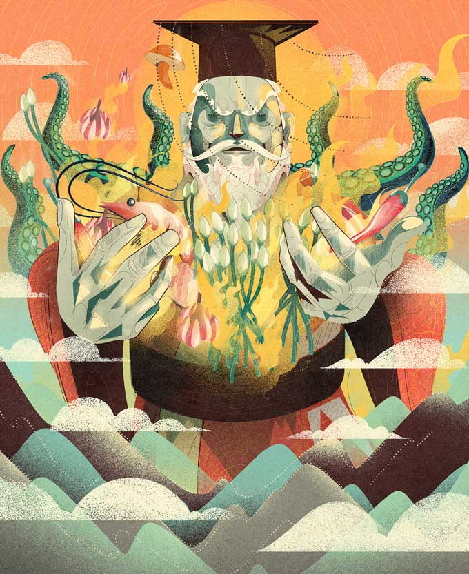 """Slightly Fires The Emperor,"" Jowett Yu. Illustrated by Denis Freitas"