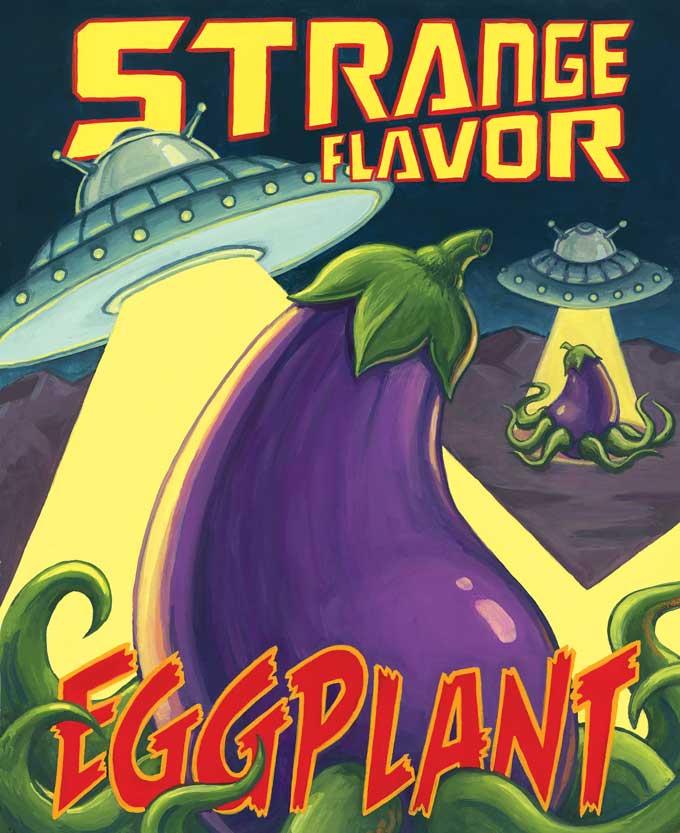 """""""Strange Flavor Eggplant,"""" Erik Bruner-Yang & Pichet Ong. Illustrated by Johnny Acurso."""