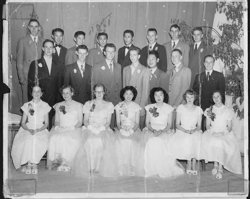 """When he graduated high school,Brian Evans (back row, third from the right) """"was very much a country boy, wet behind the ears."""""""
