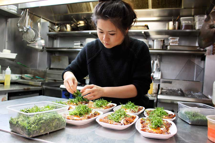 """Jenny Gao: """"I would like to see young Chinese chefs evolving their traditions, but not in a way that is dictated by the West.""""  Fly By Jing"""