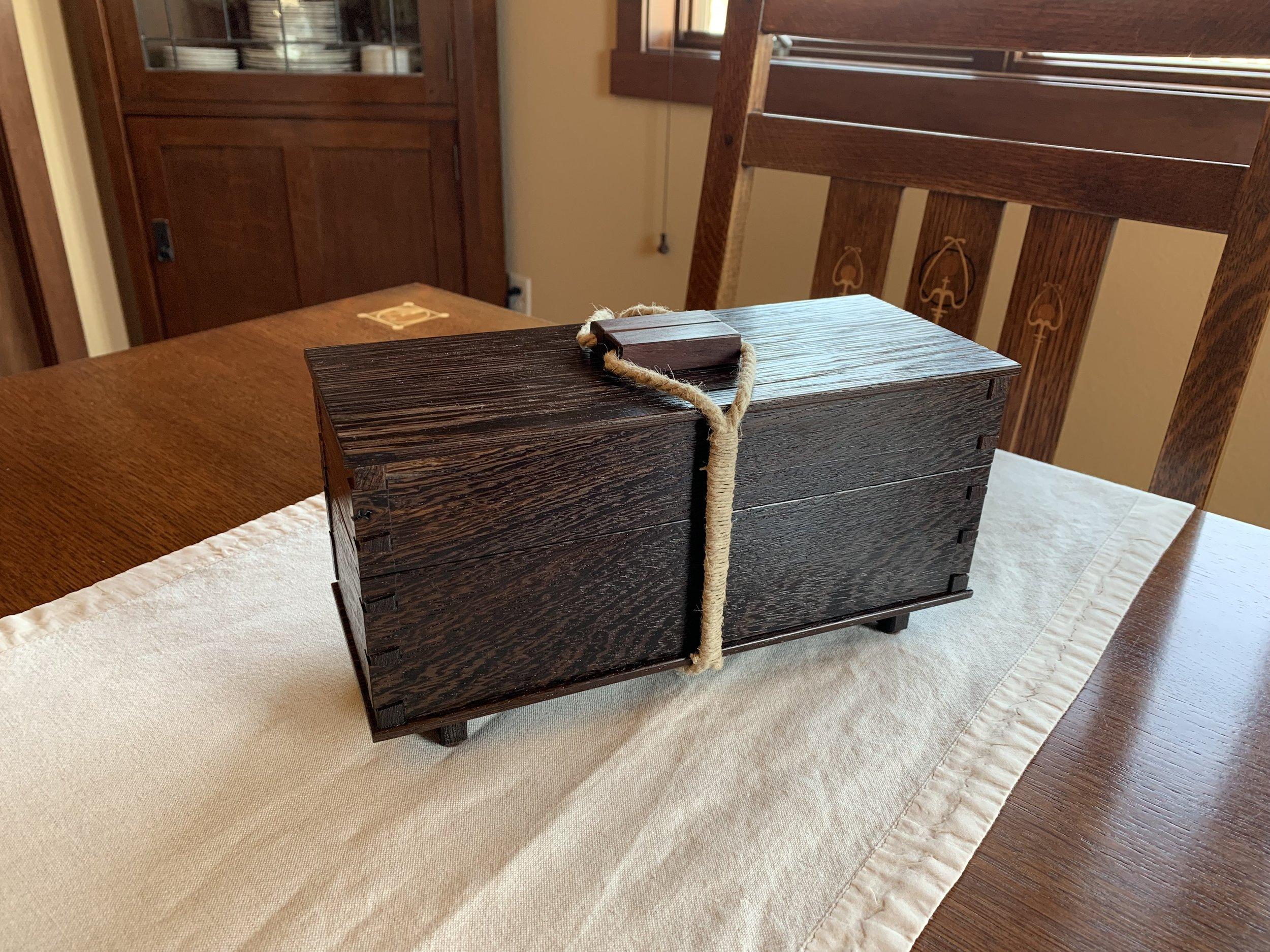 Teabox (exterior) • Wenge, Birdseye Maple