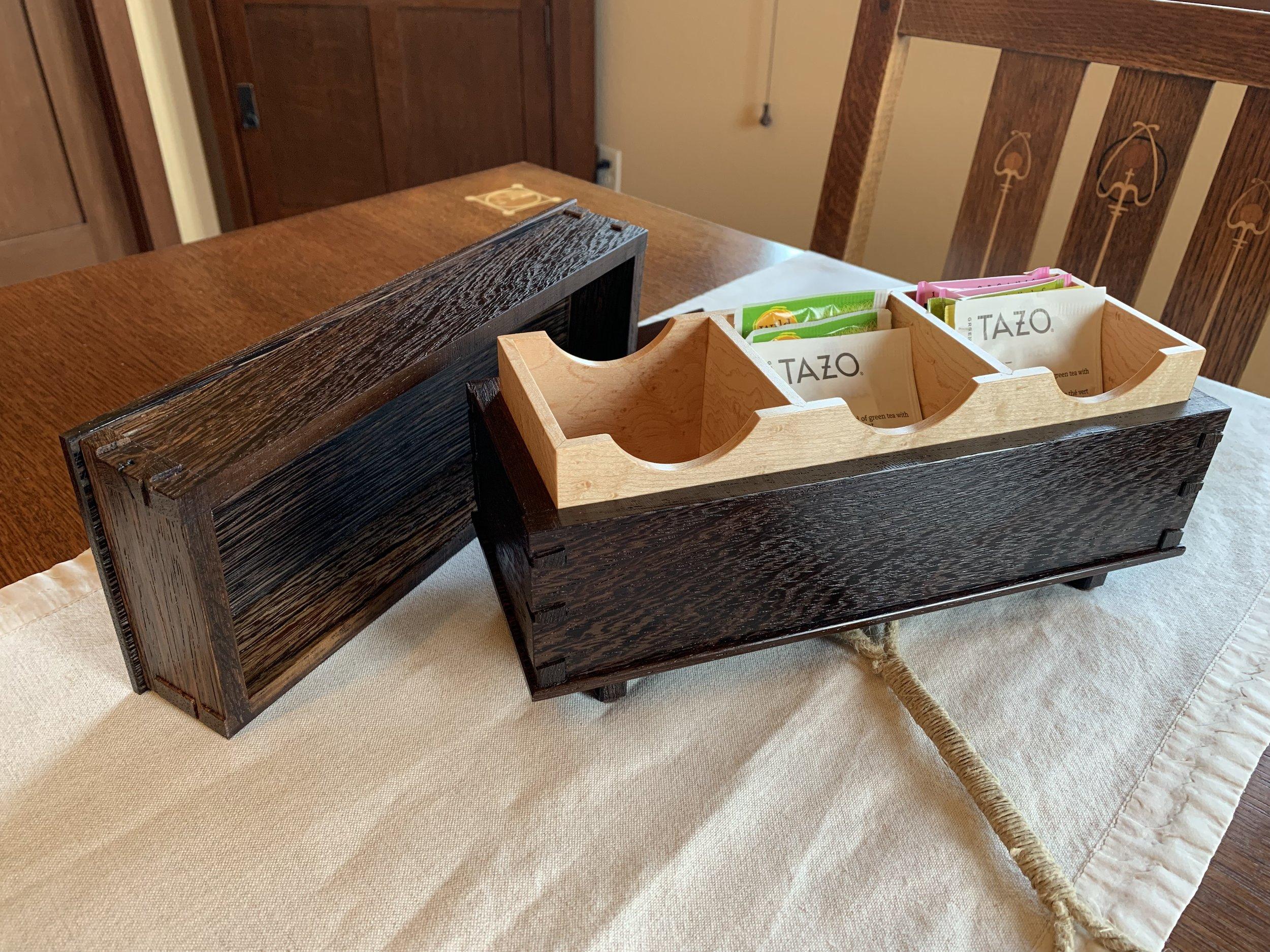 Teabox (interior) • Wenge, Birdseye Maple