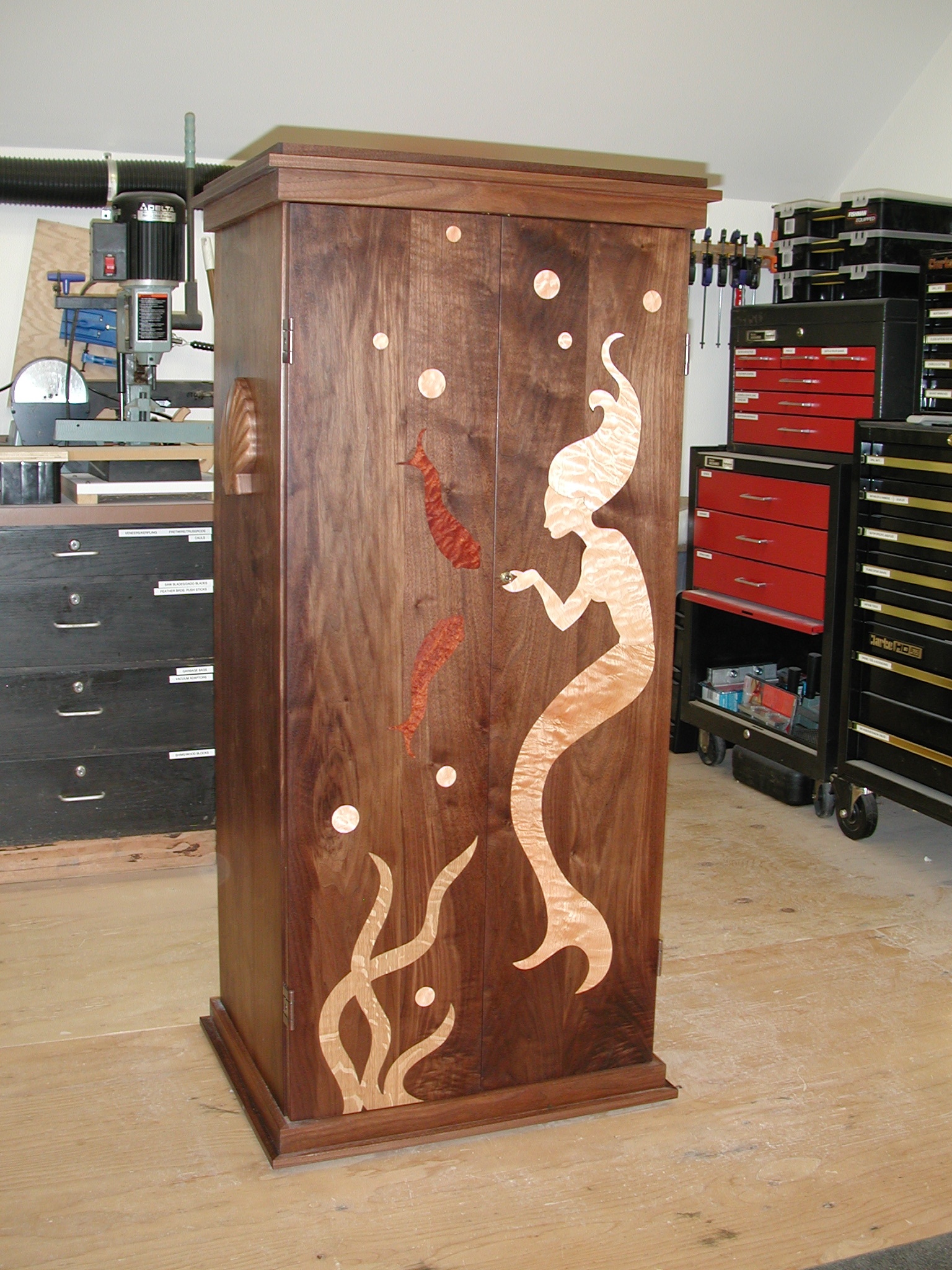 Inlaid Cabinet with Drawers