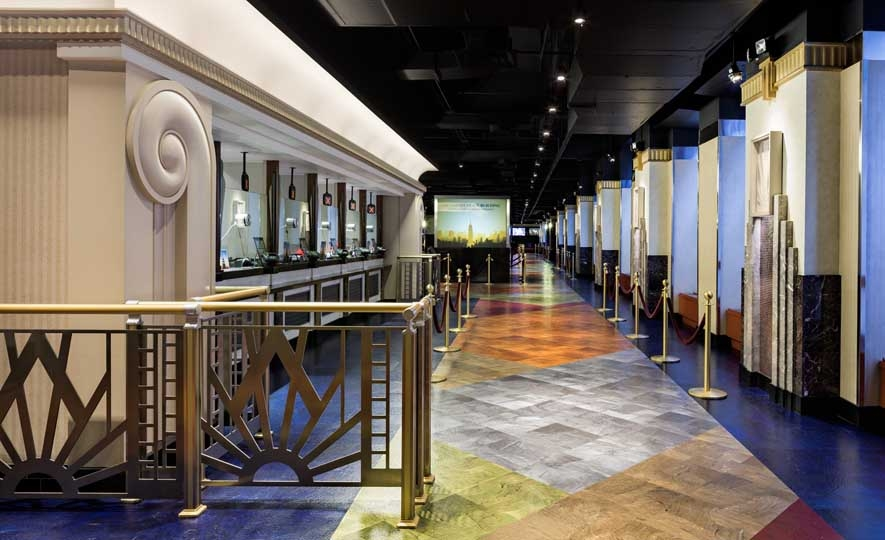 Empire State Building Visitor Center   Walls: 3/4 in. Slab Material and Glass Mosaics