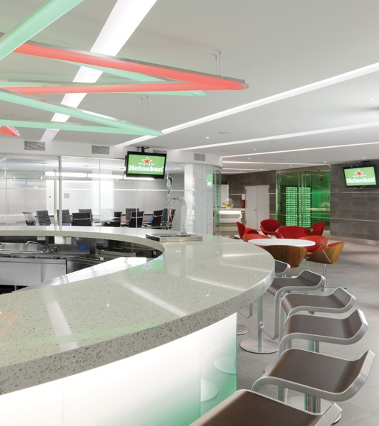Heineken Offices   Reception, Bathrooms, Hallways and all the Stone Tops.