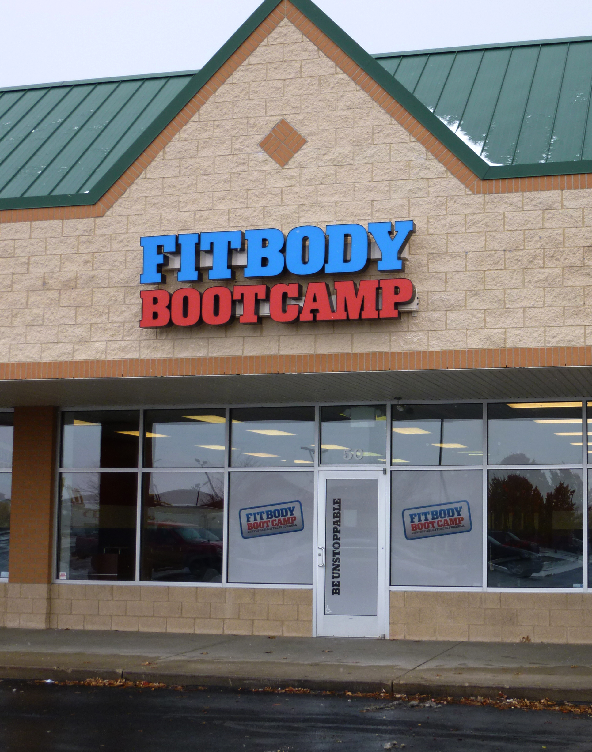 FIT BODY BOOT CAMP - CHANNEL LETTERS WITH LED ILLUMINATION ON A RACEWAY