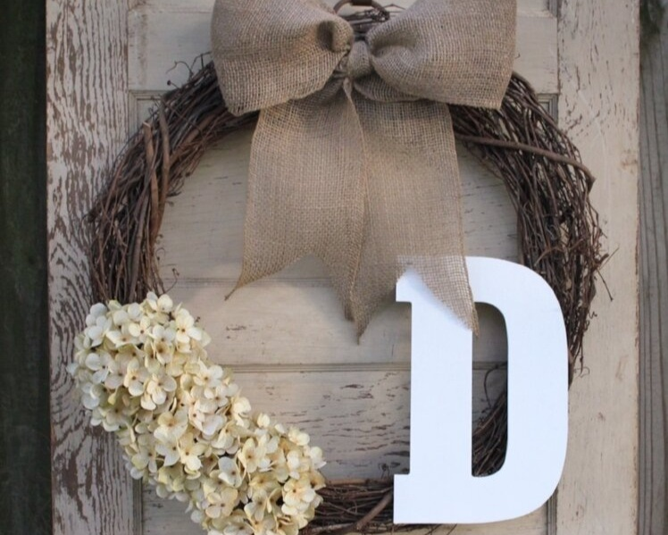Monogrammed Grapevine Wreath