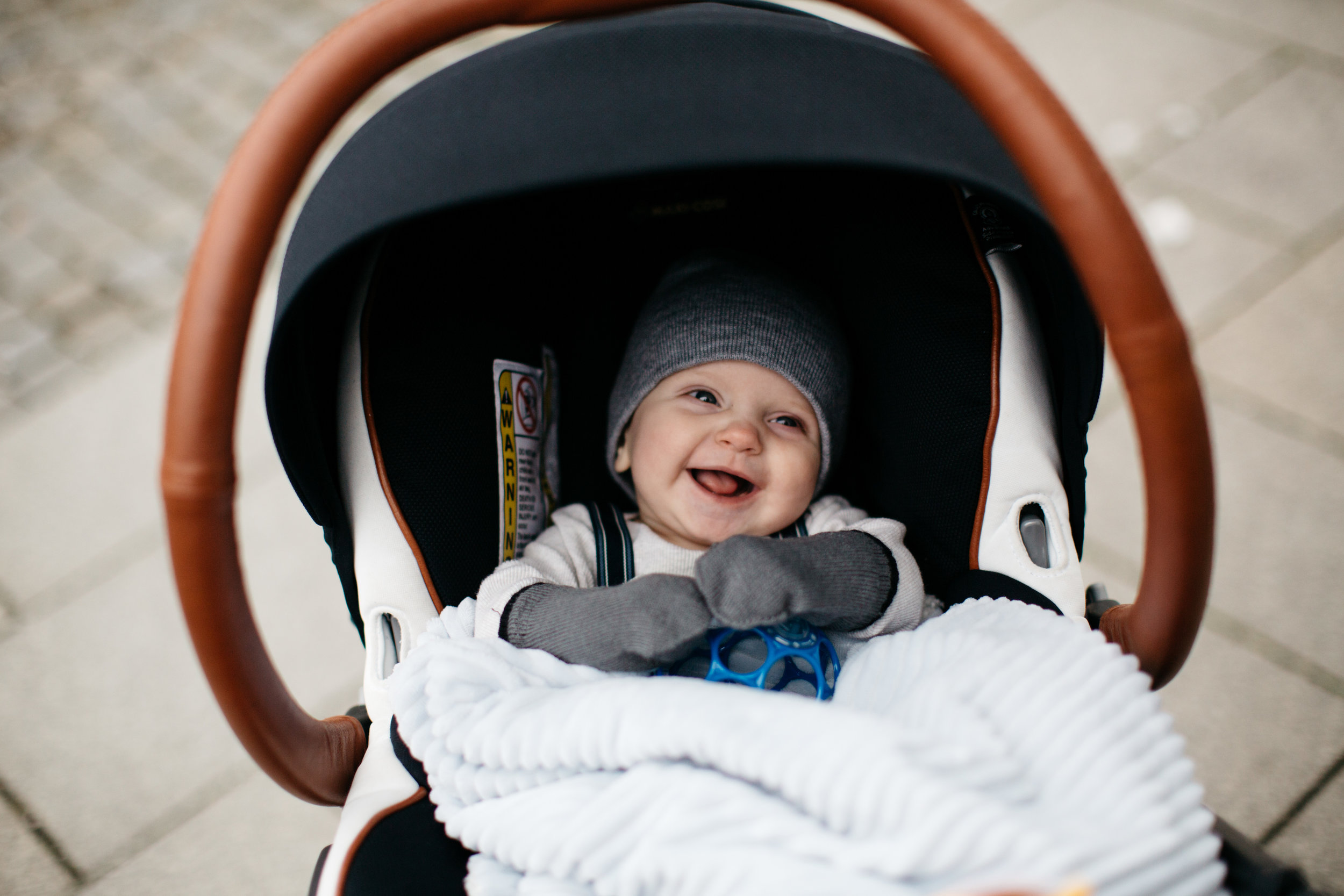 Baby A, just loving life. PS, our  Nuna Mixx  +  Maxi Cosi  was perfect for the trip!