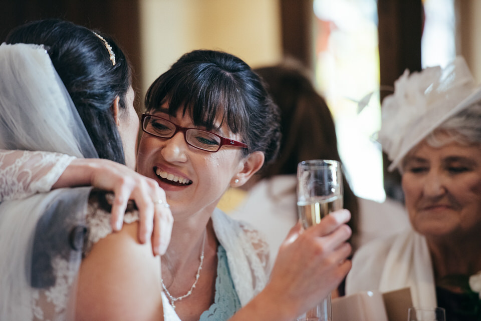 Candid laughter wedding