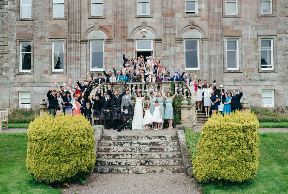 Group shot Springkell wedding
