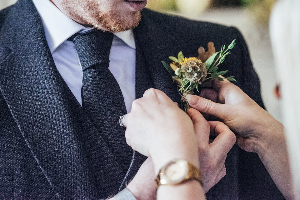 Scottish wedding buttonhole