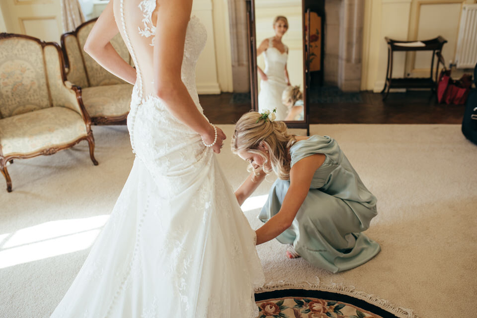Bridal preparation Rowallan Castle