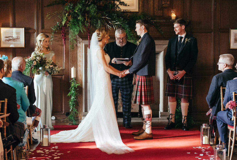 Rowallan Castle Wedding Ceremony