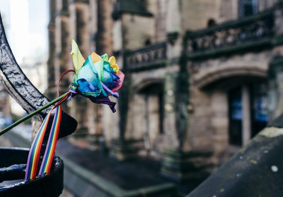Rainbow Flowers Civil Partnership