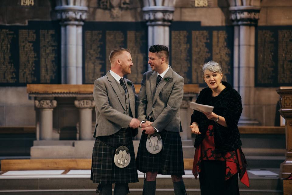 Glasgow Uni Chapel Gay Wedding
