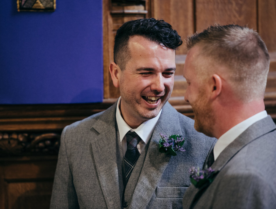 Wedding ceremony Glasgow University