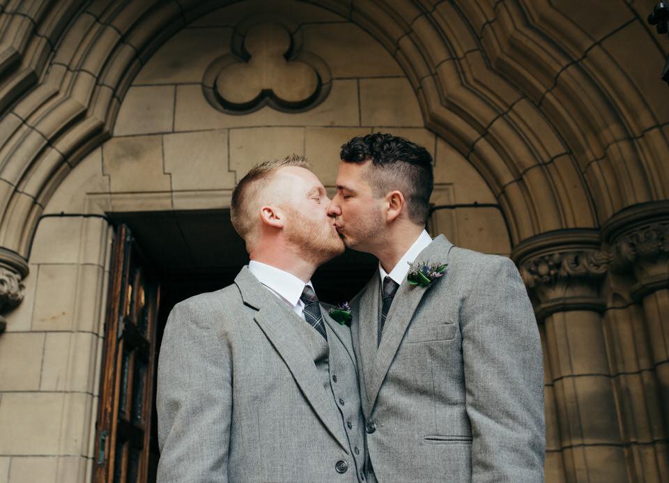 Gay Wedding Kiss Scotland