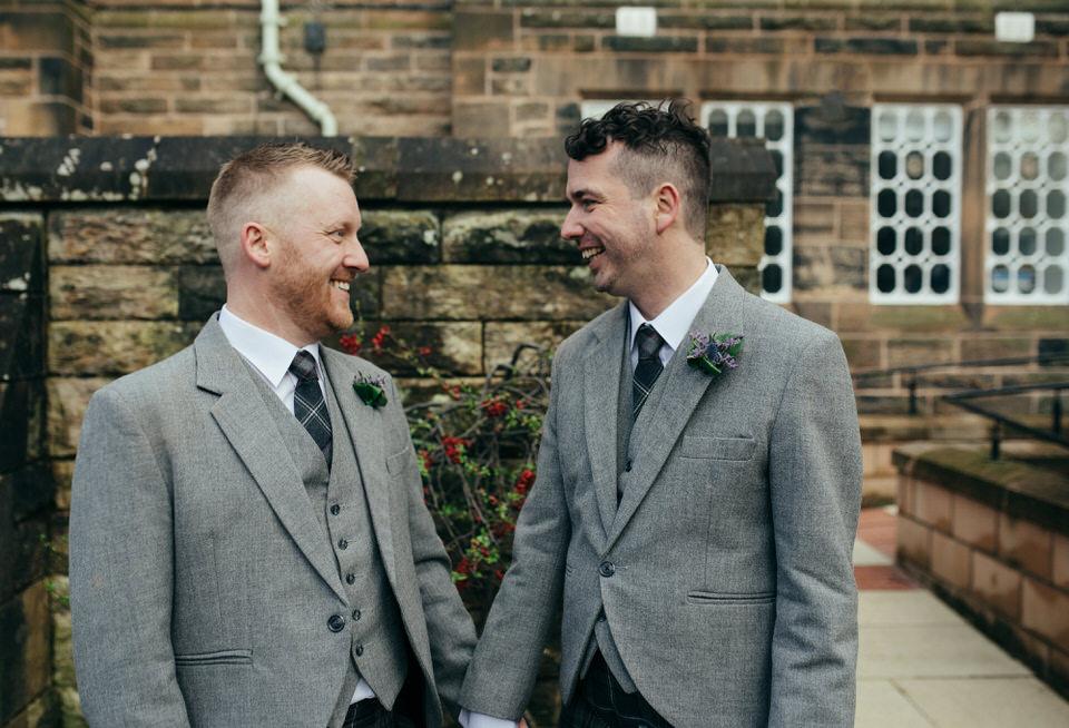 Gay wedding portraits Scotland