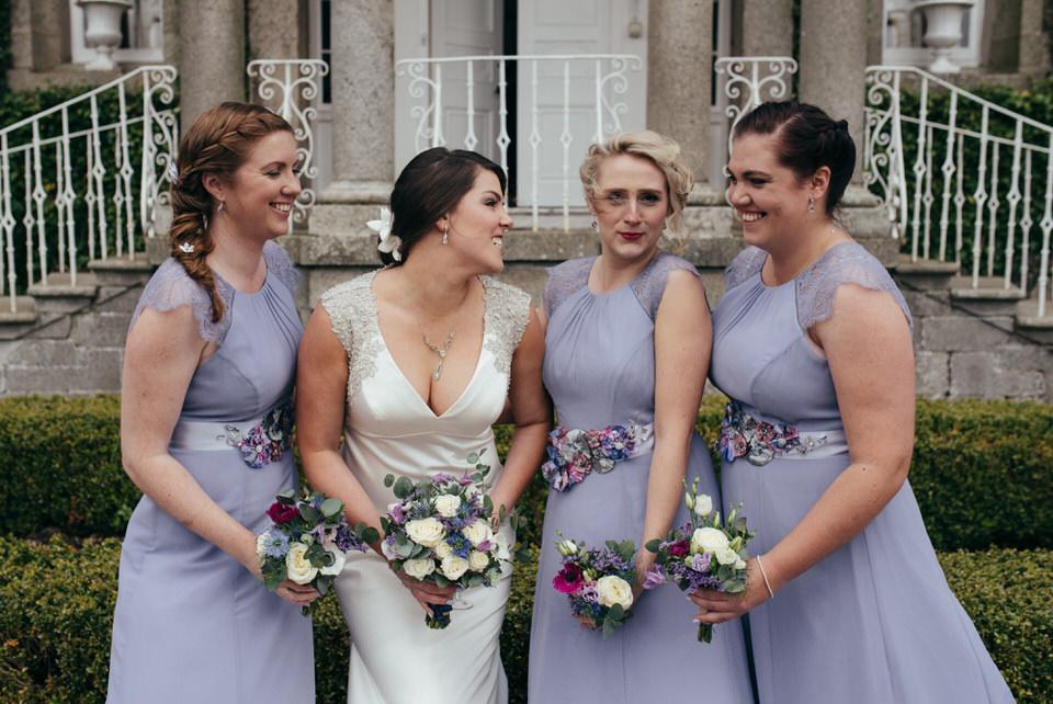 Fun bridesmaids portrait