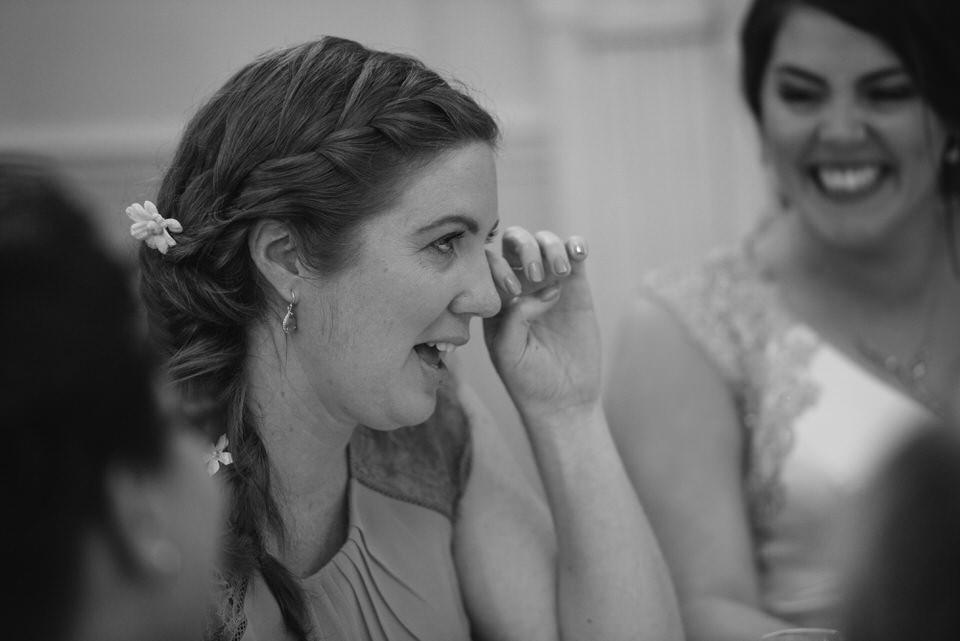 Crying bridesmaid