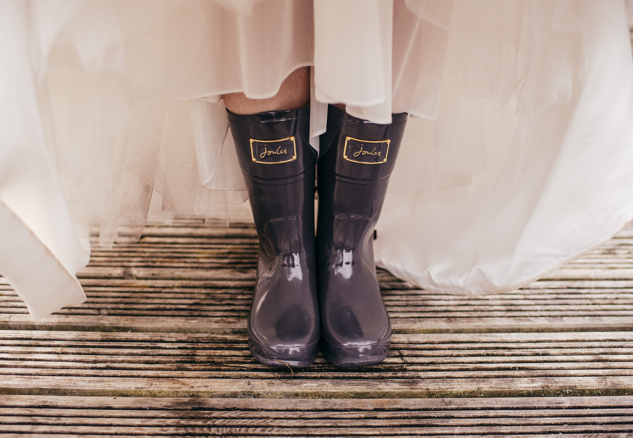 Wedding welly boots