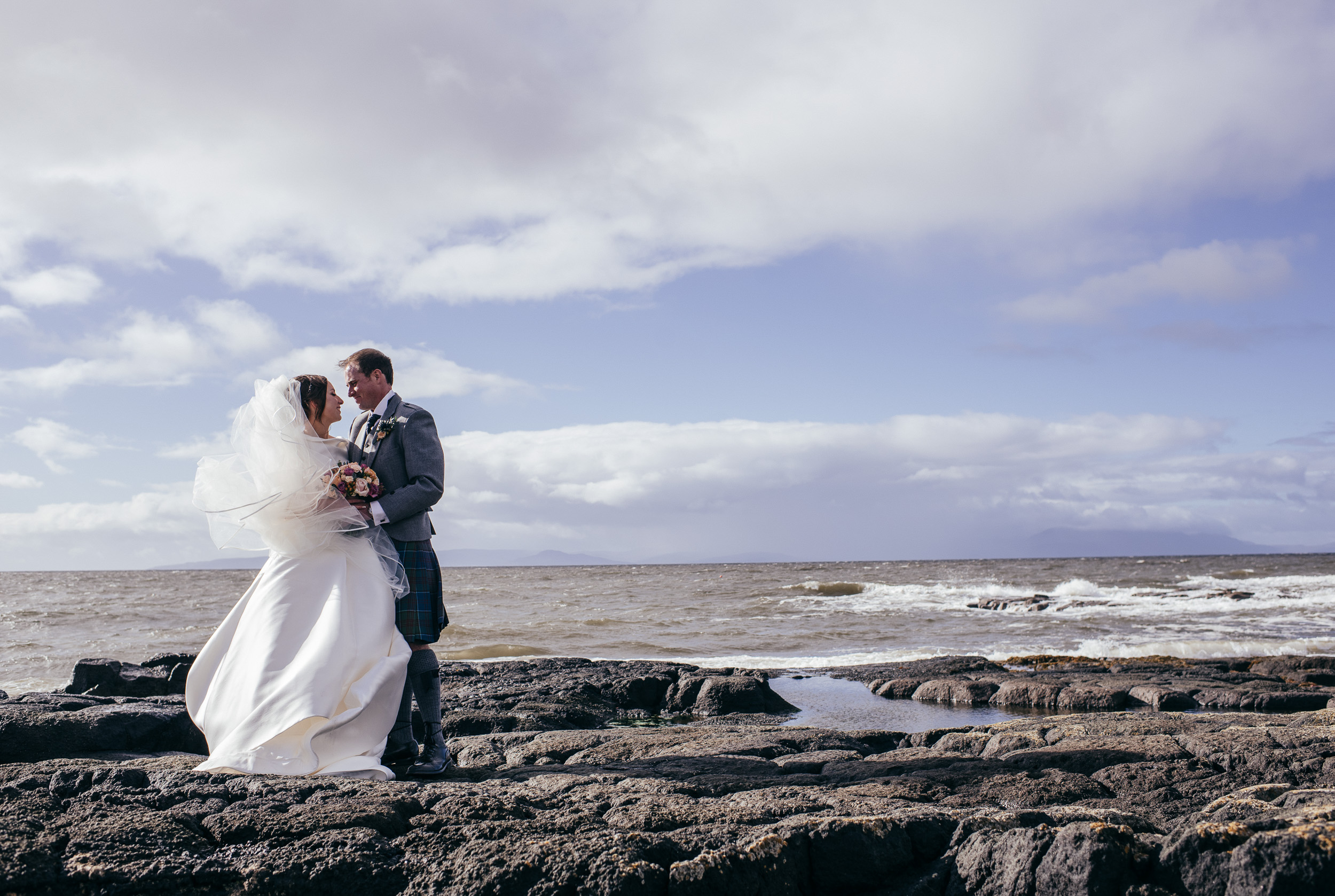 Seaside wedding Scotland