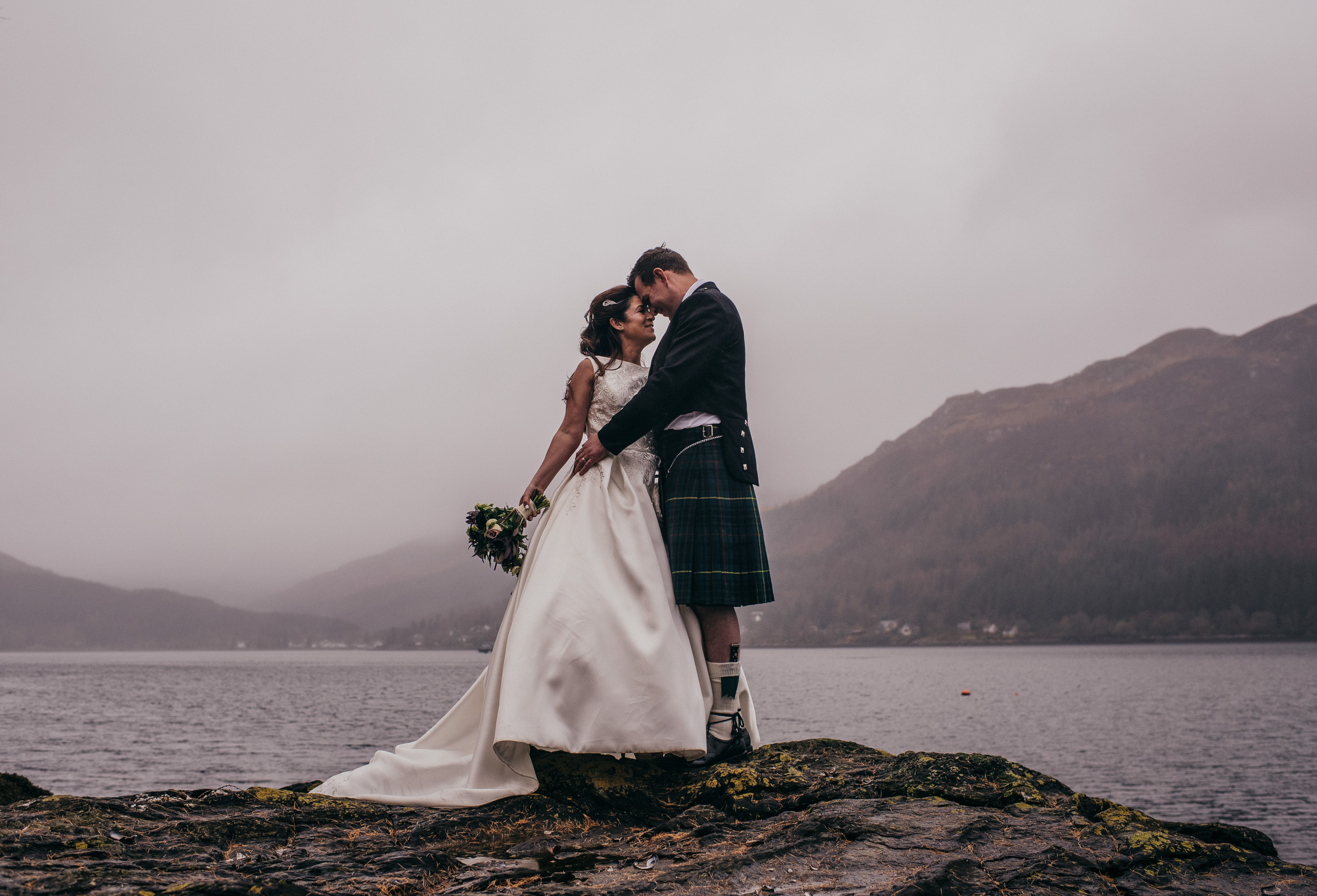 Lodge on Loch Goil Wedding