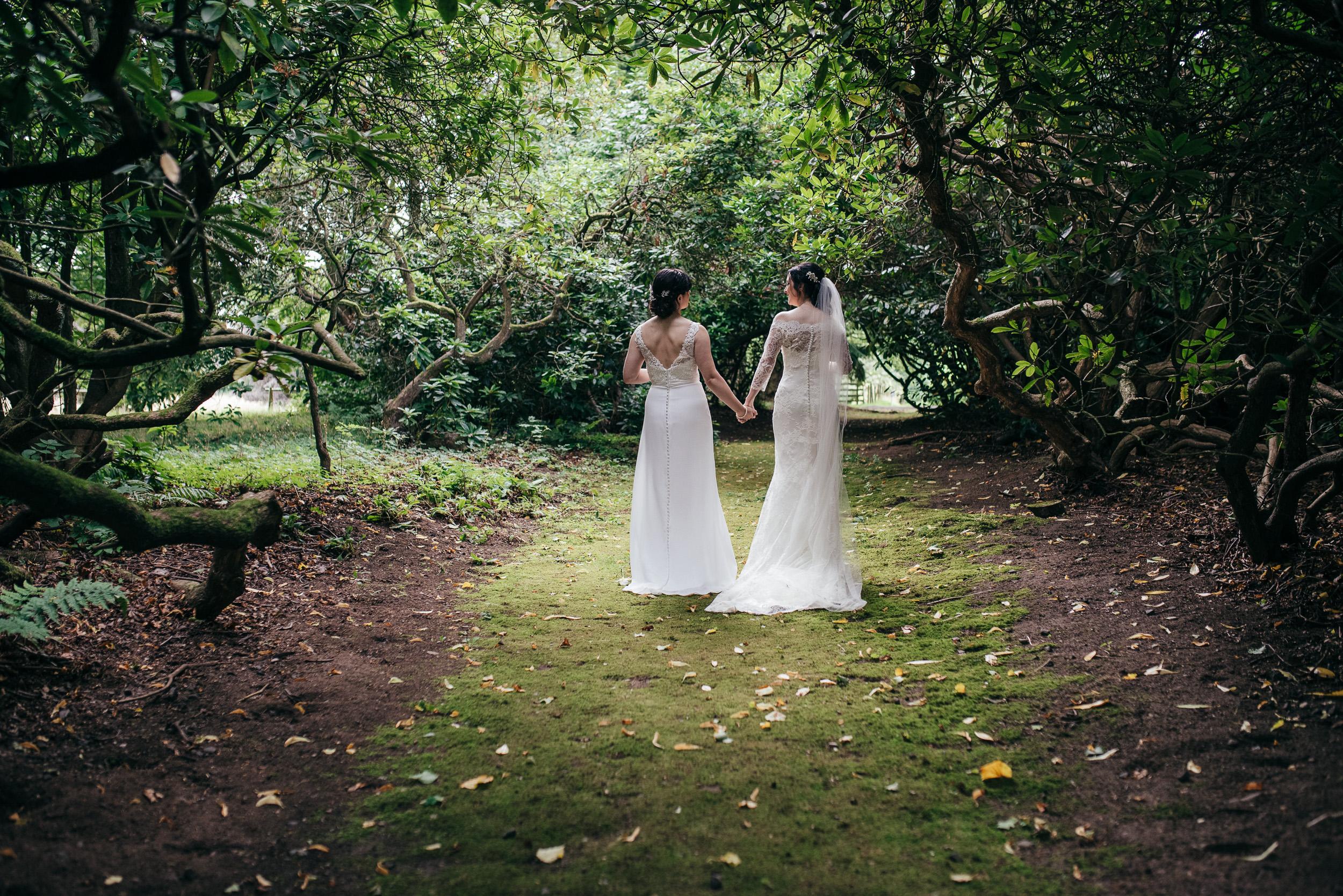 Lesbian wedding Byre at Inchyra