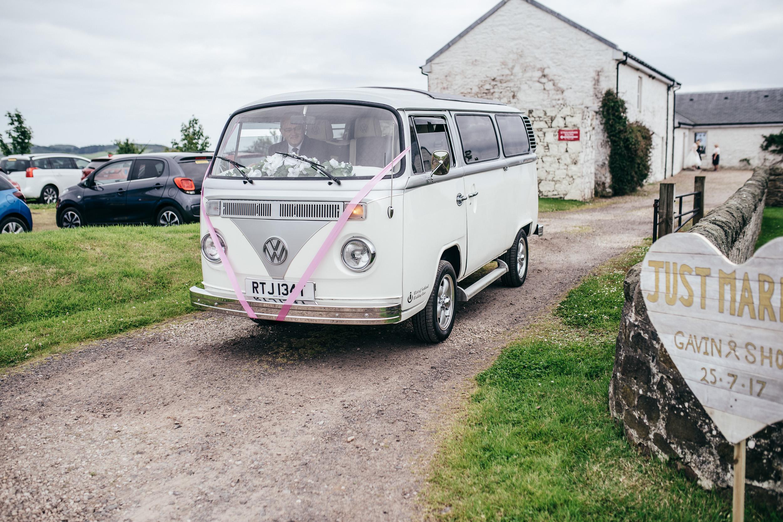 Wedding camper van isle of bute
