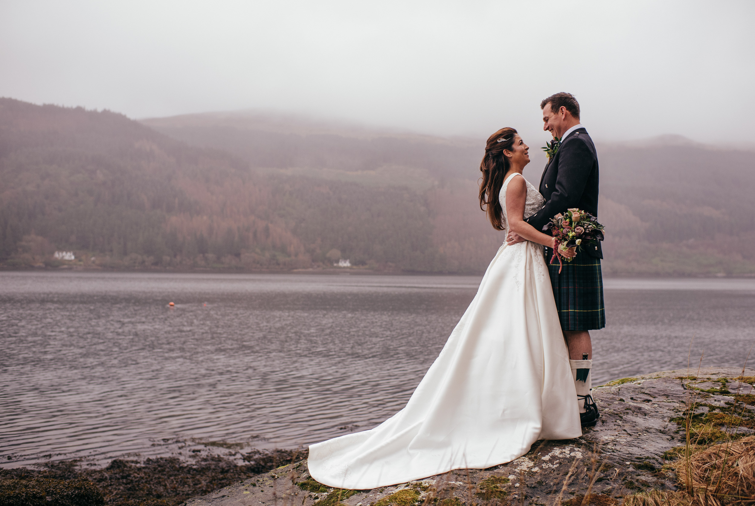 Wedding portraits The Lodge on Loch Goil
