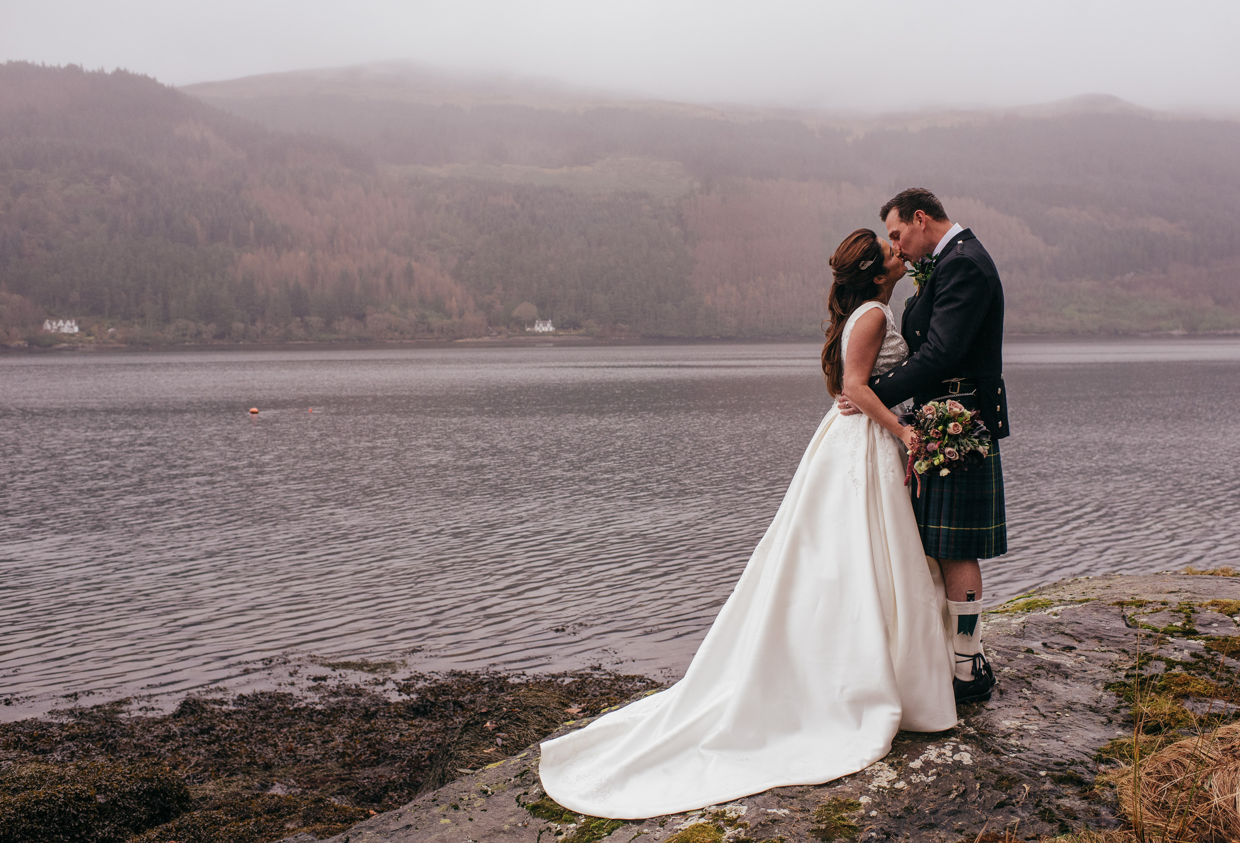 Lodge on Loch Goil - Scottish Wedding Photographer
