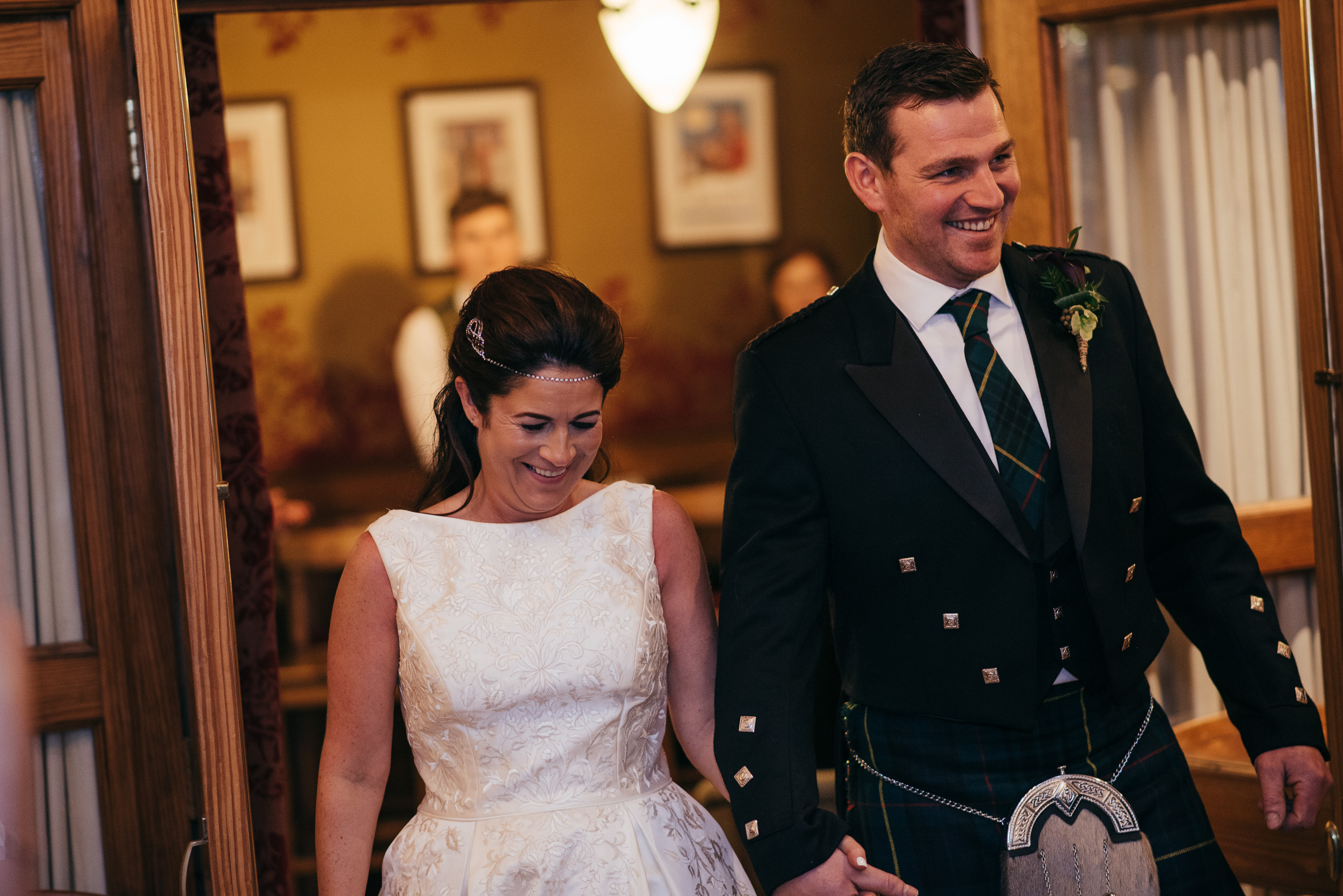 Bride and Groom The Lodge on Loch Goil