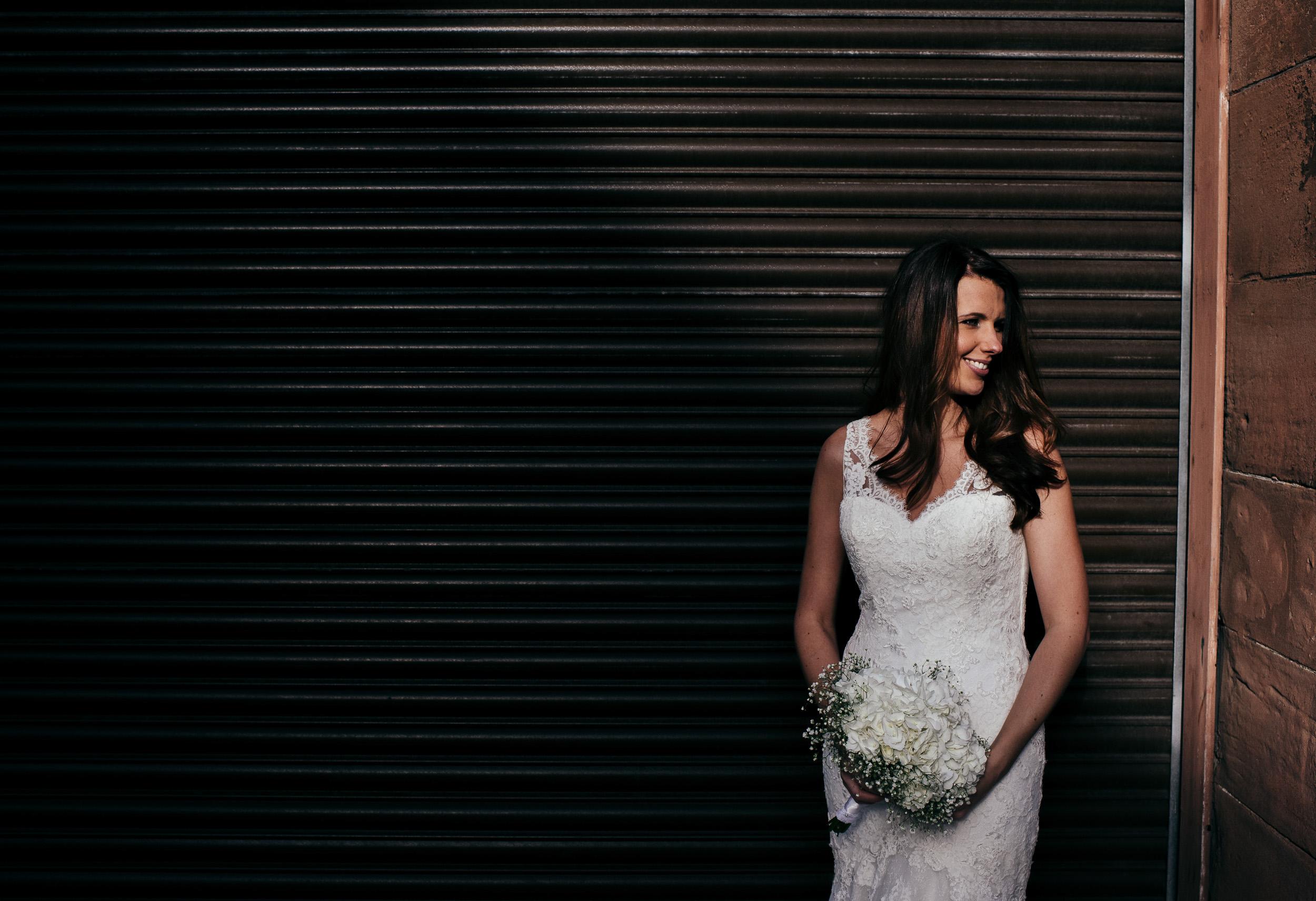 Glasgow city centre wedding portraits