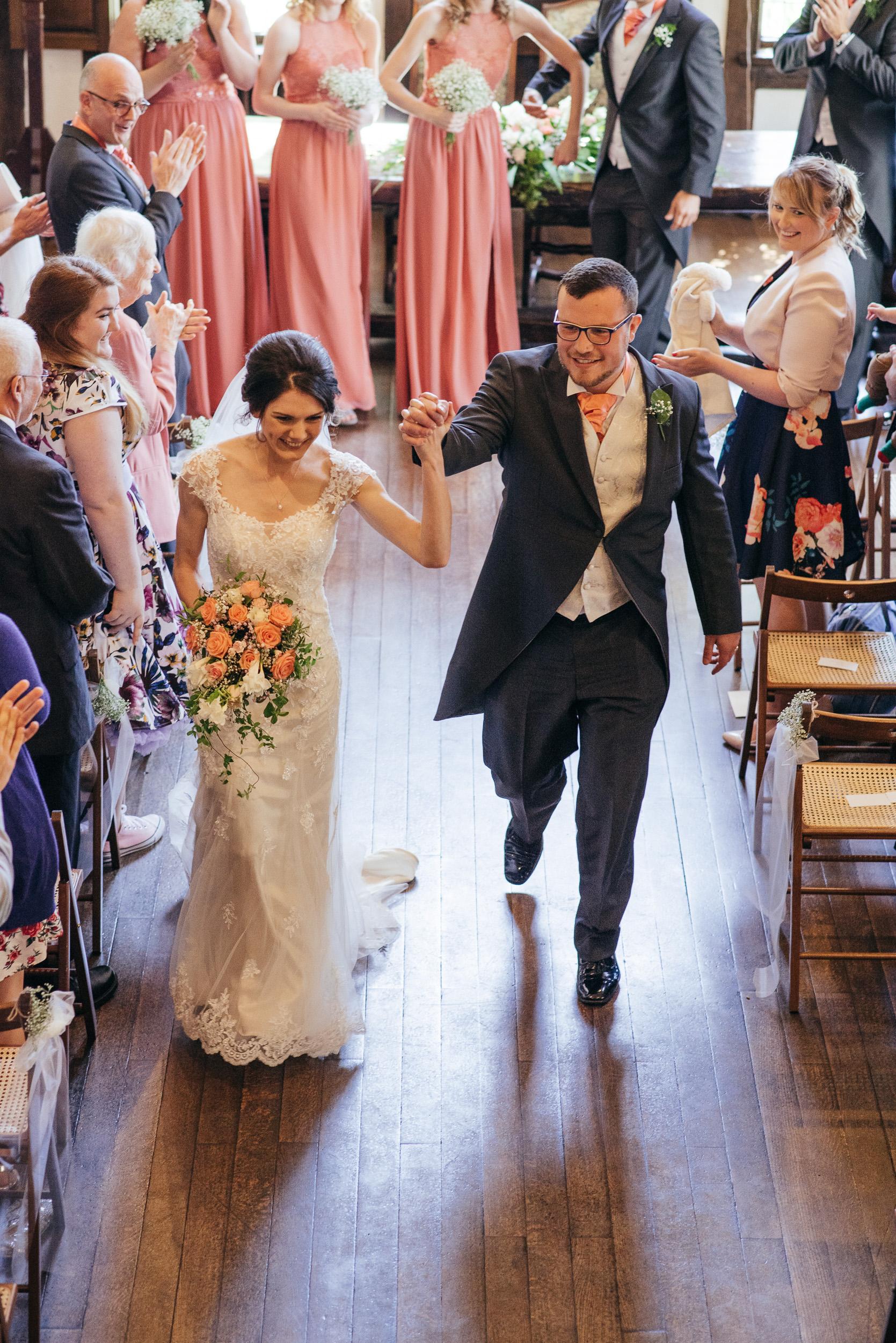 Wedding ceremony Priory Hall, Hadleigh