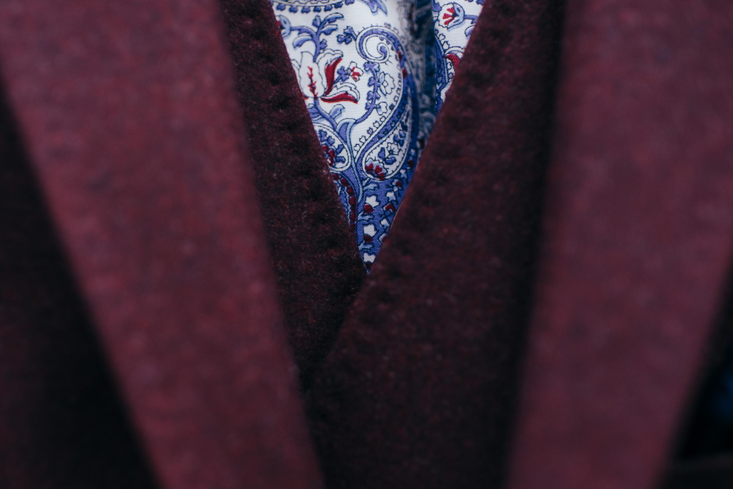 Paisley pattern suit