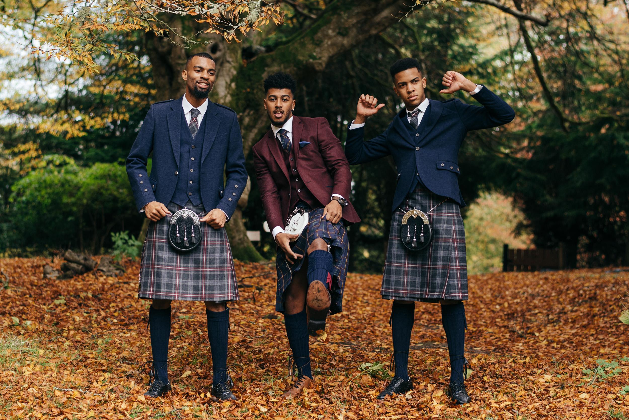 American groom in Scotland