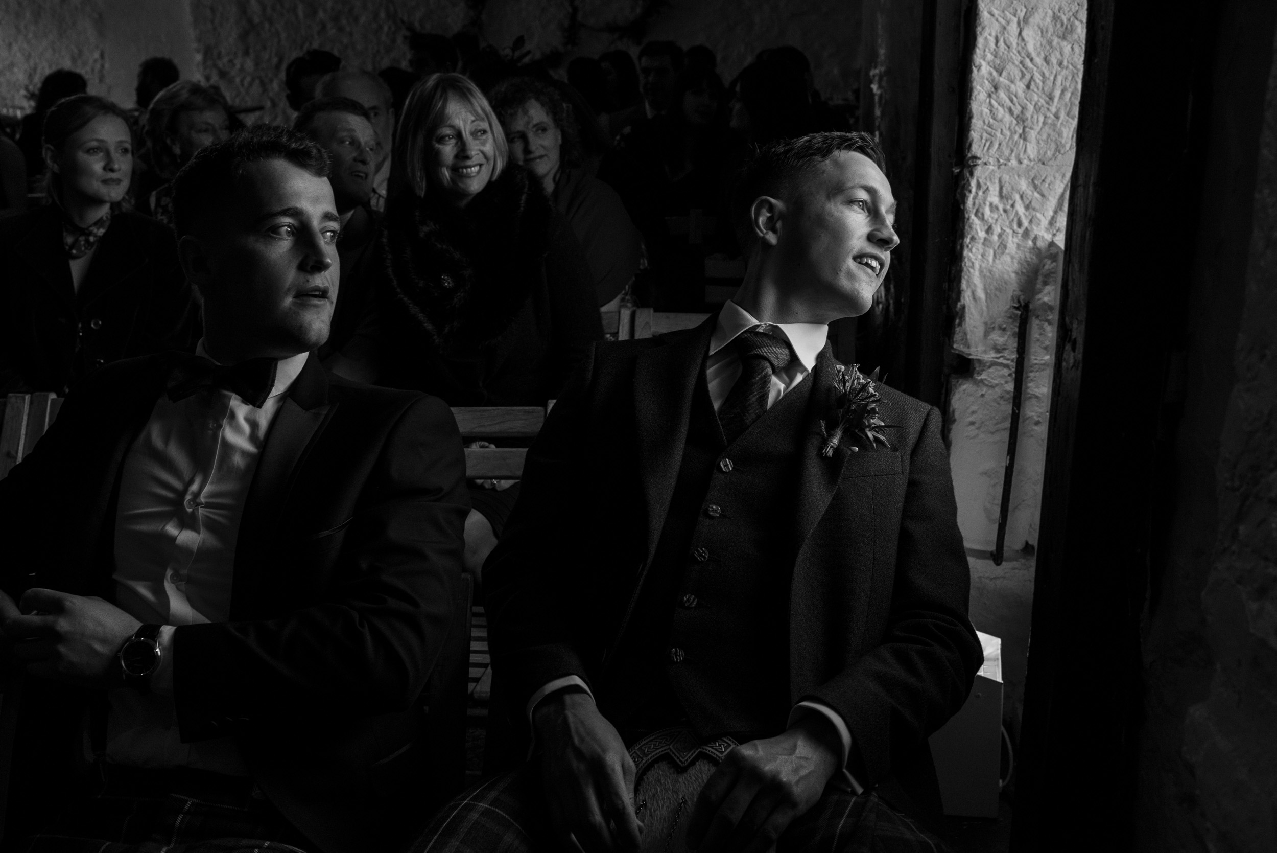 Awaiting wedding ceremony