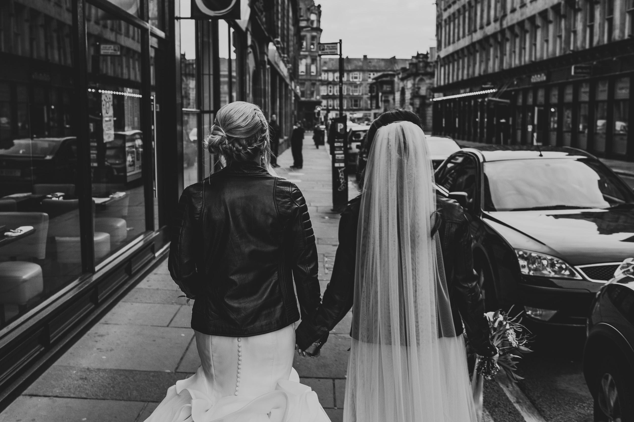 Urban wedding Glasgow
