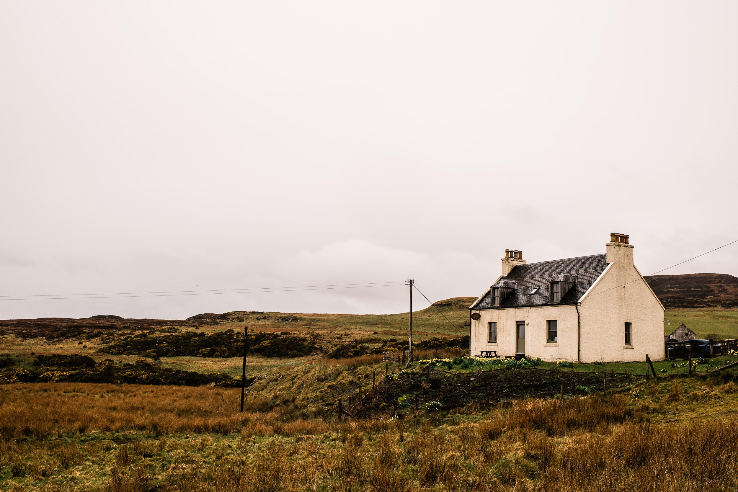 Remote cottage wedding Scotland
