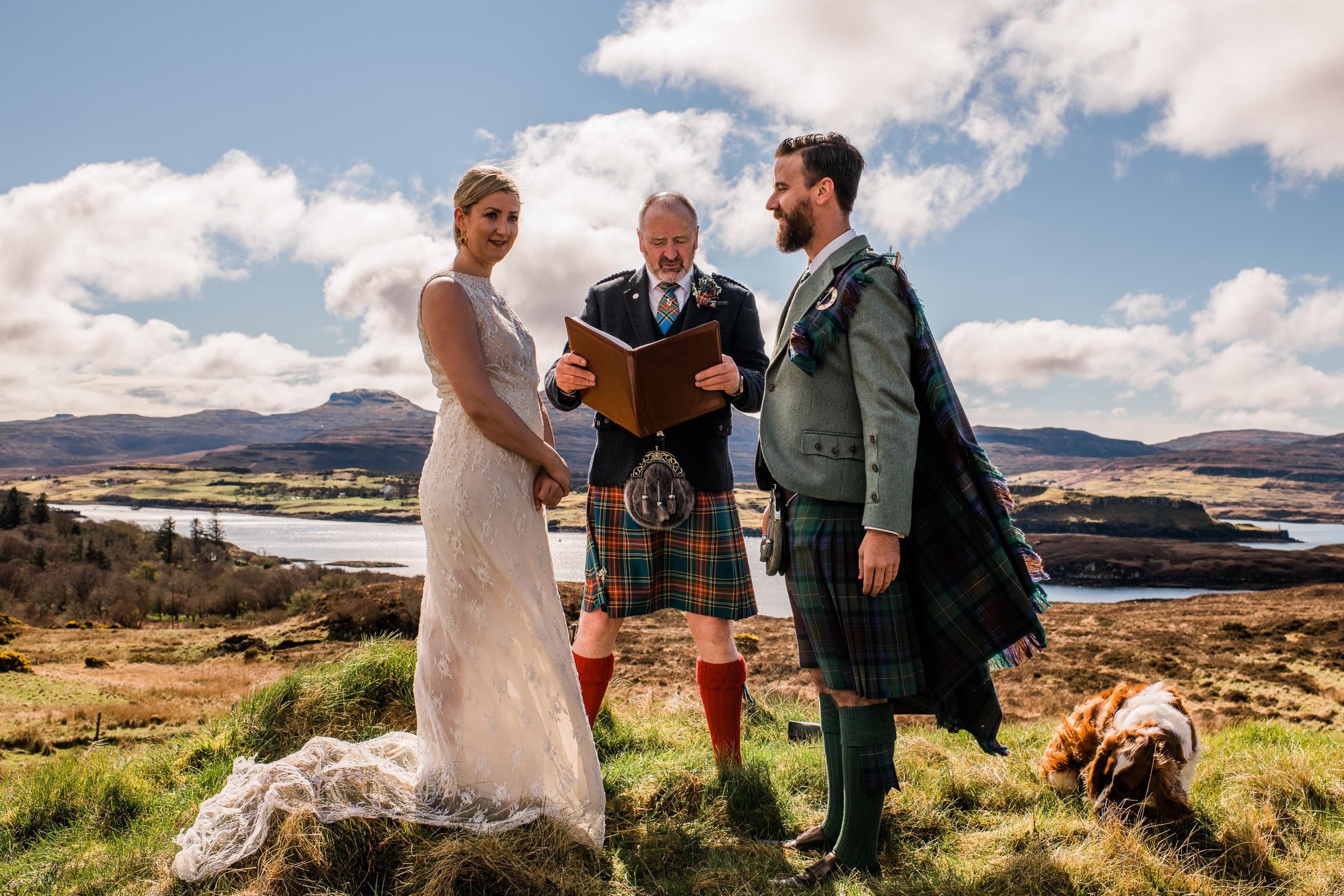 Elopement ceremony Isle of Skye