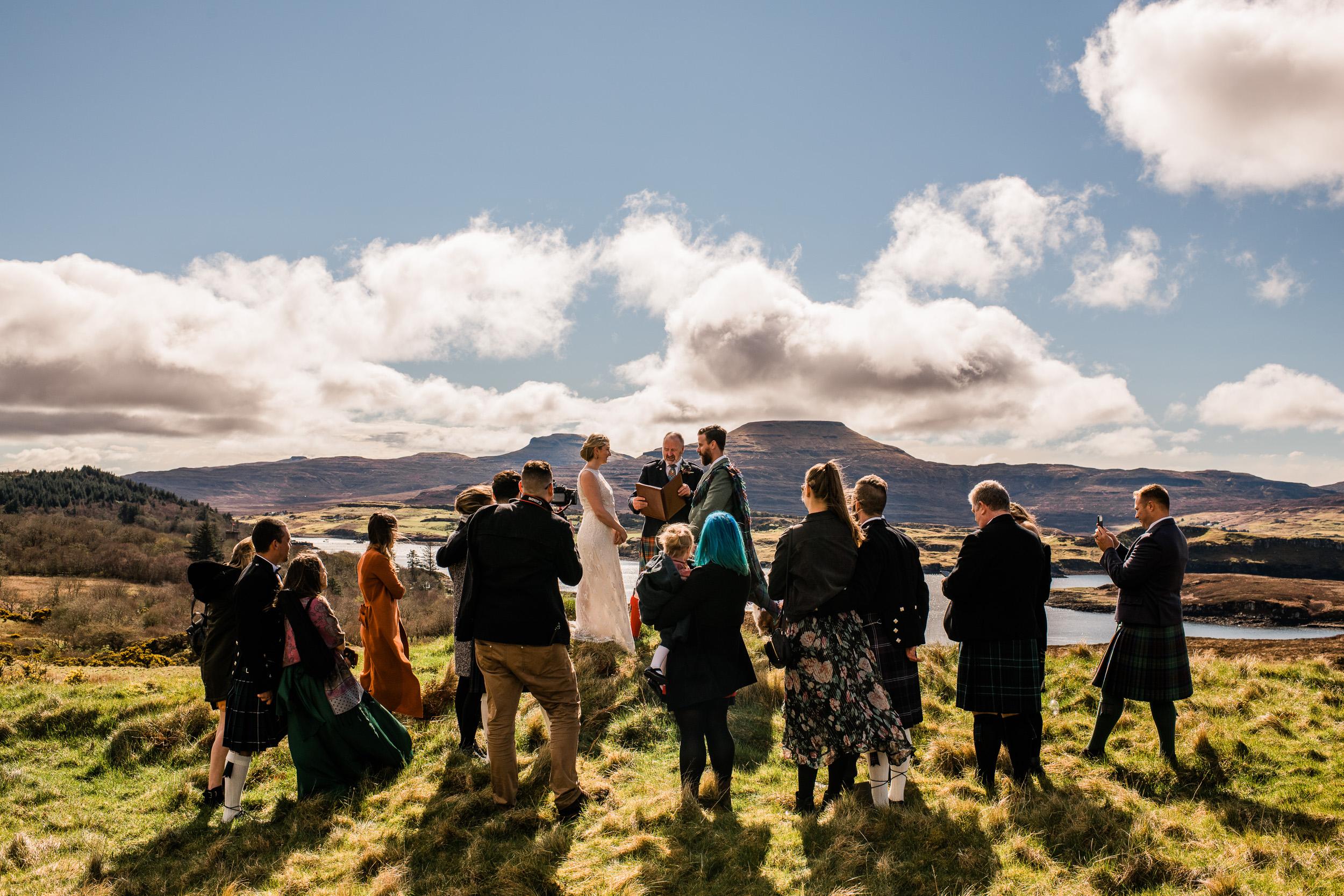 Hilltop elopement isle of skye