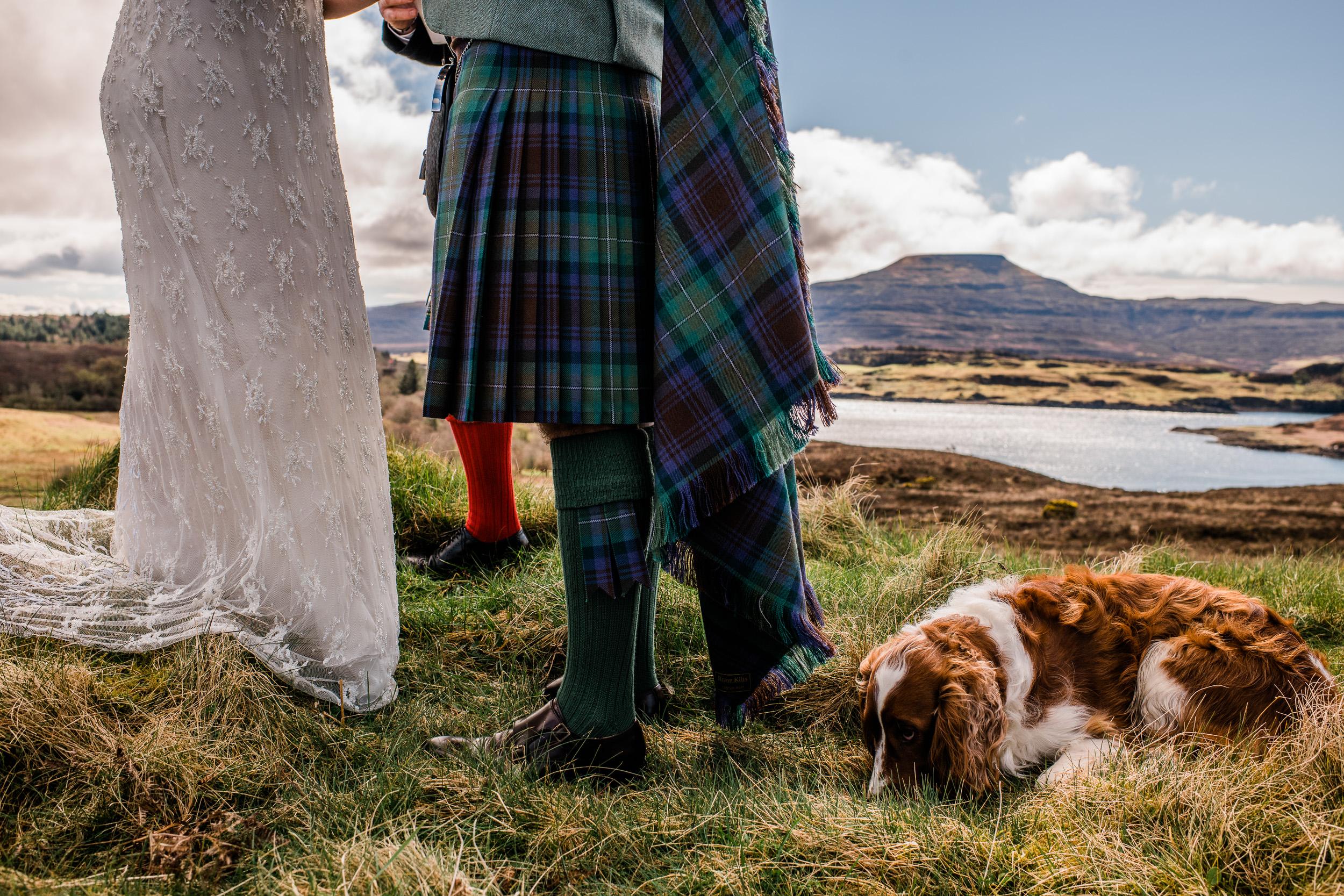 Wedding dog ceremony Skye