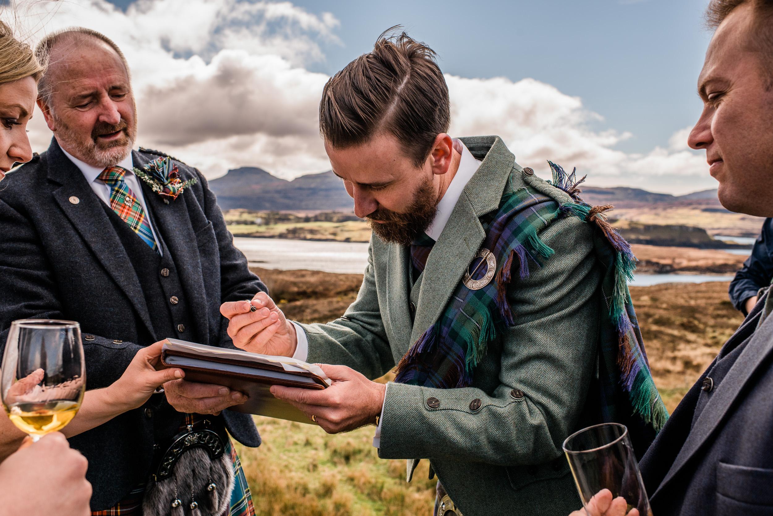wedding whisky skye