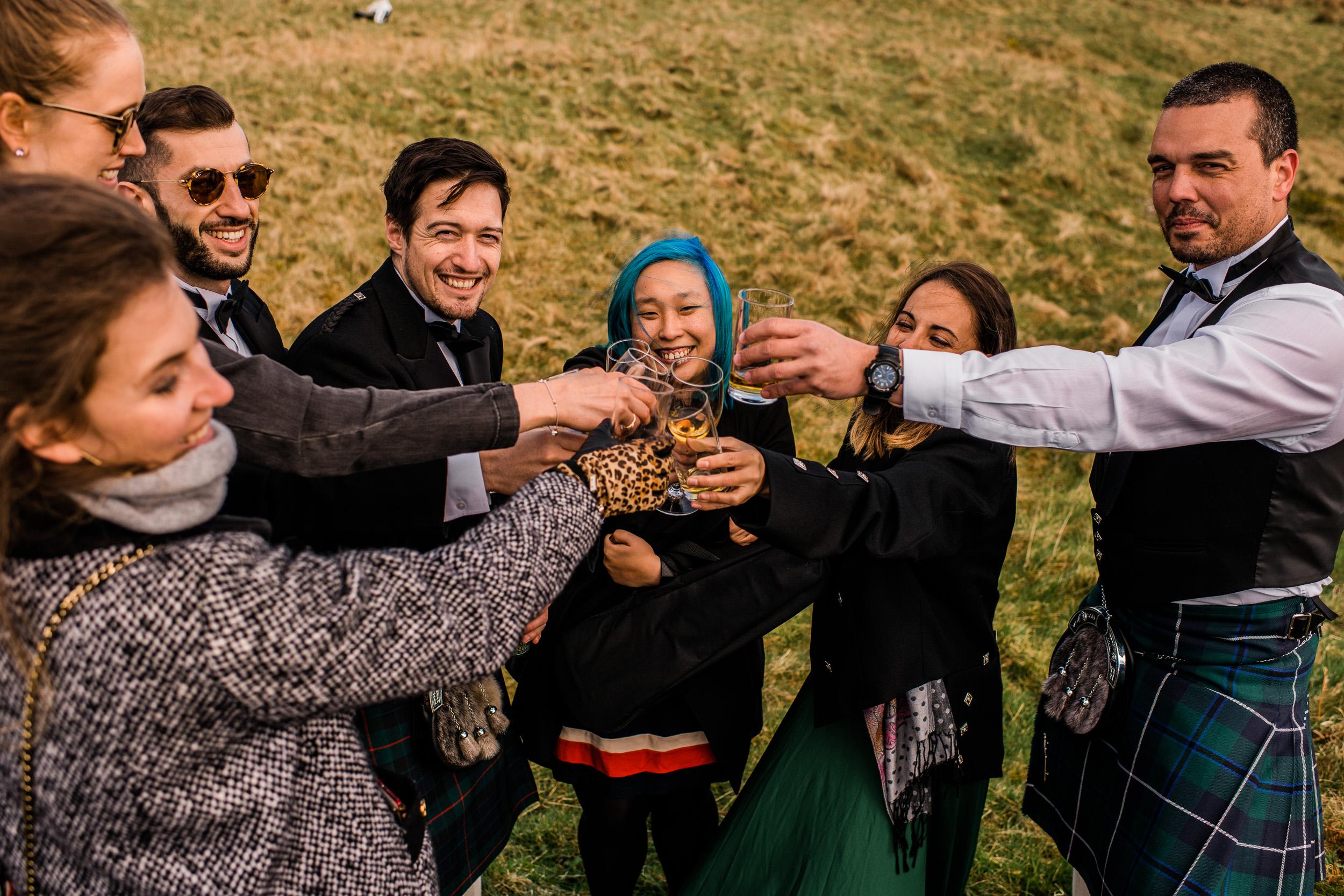 Wedding toast elopement