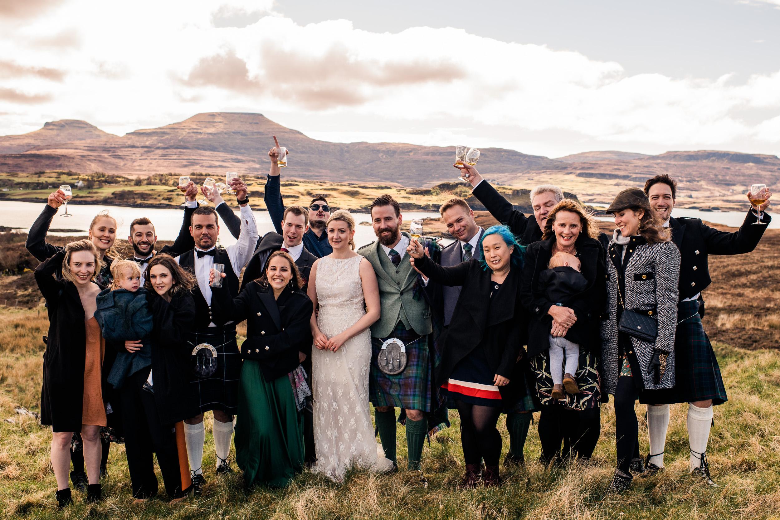 Wedding party isle of skye