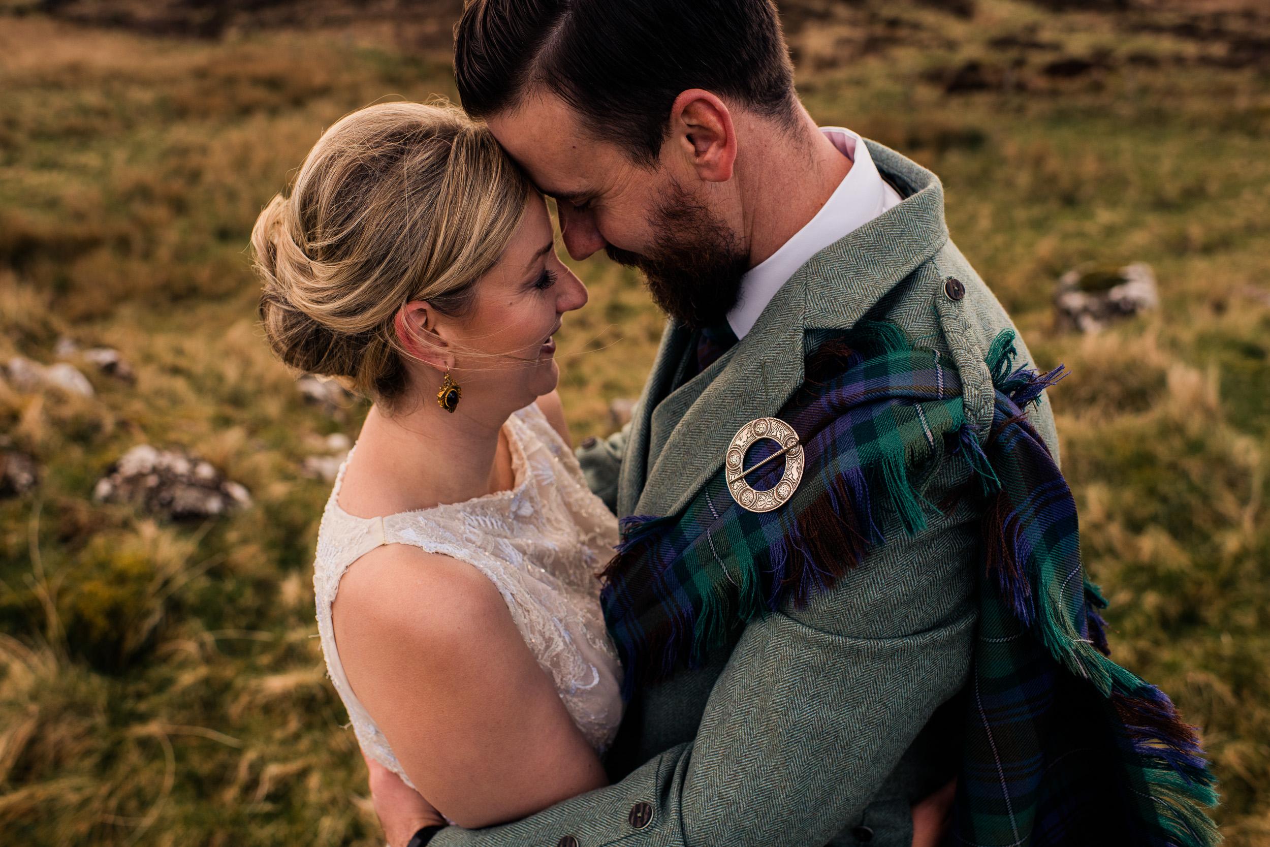 Couple portrait Skye elopement