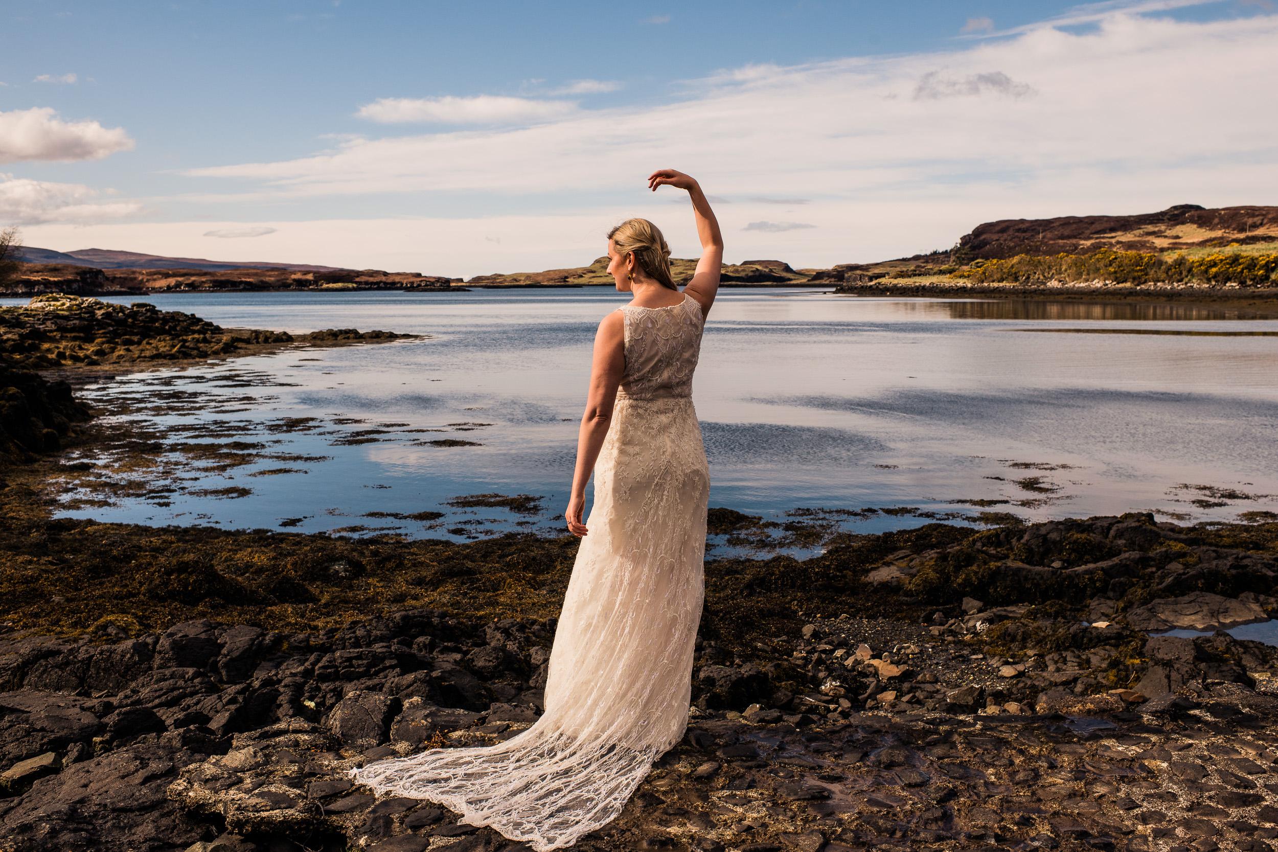 Bride portrait skye elopement