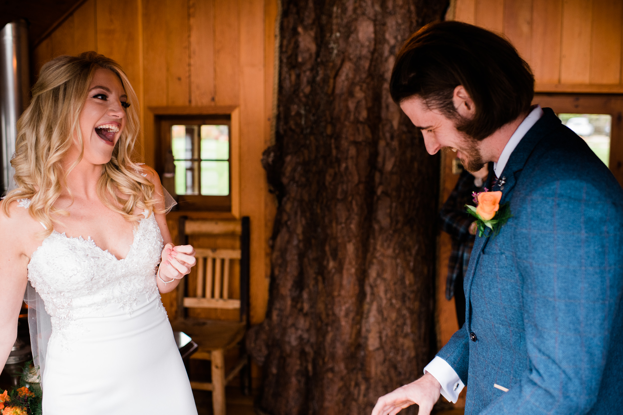 Treehouse wedding ceremony Lodge on Loch Goil
