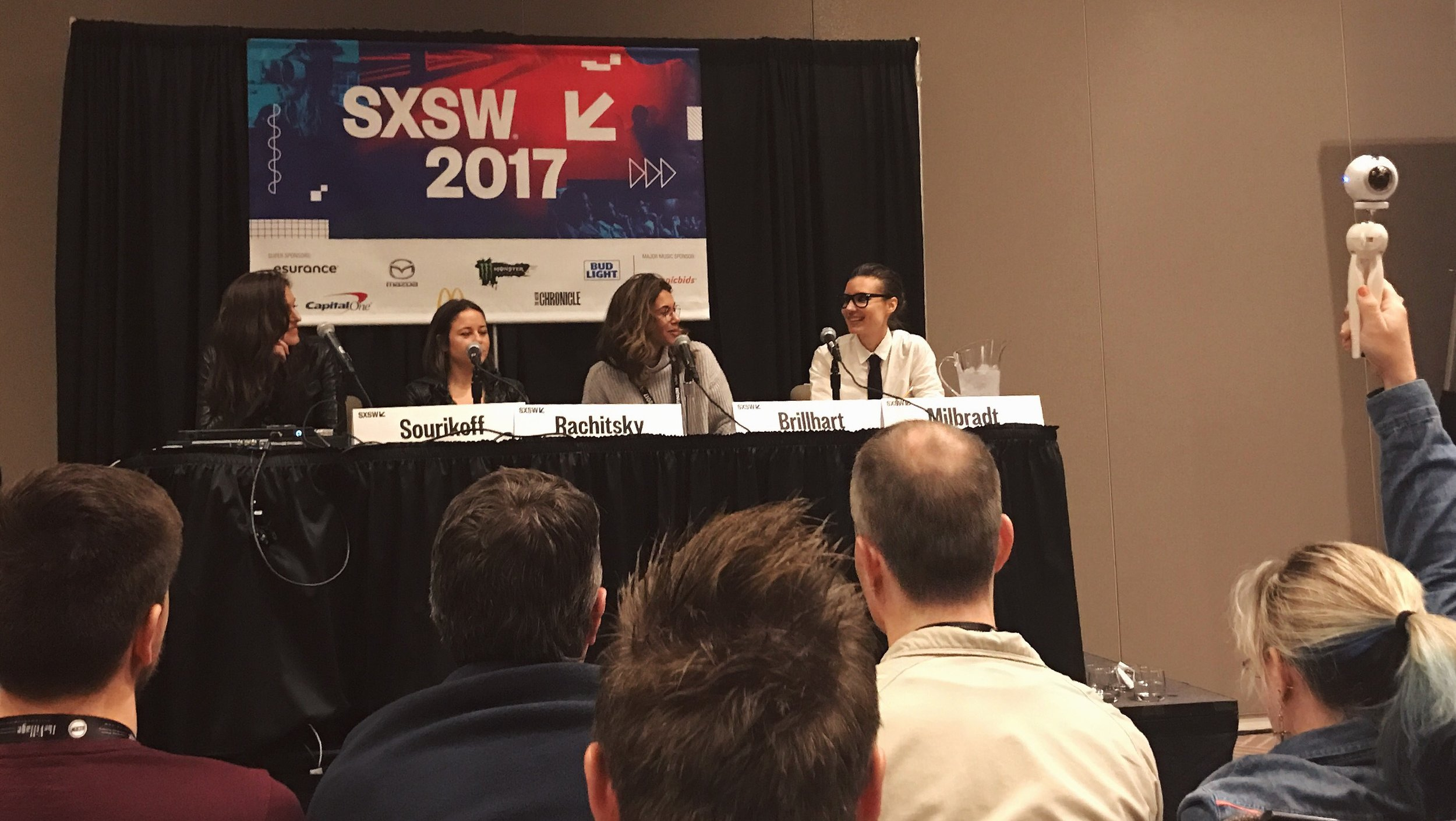 SXSW sharing the stage with Julia Sourikoff (Tool), Yelena Rachitsky (Oculus) and Jessica Brillhart