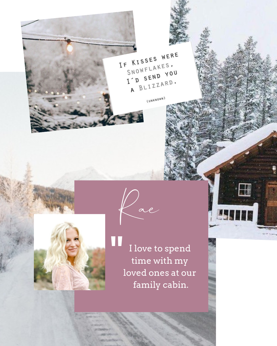 Rae , like the rest of us, is obsessed with the new hotspot  Heirloom  (butternut squash agnolotti, anyone?). On the weekends, she spent time visiting the snow her fam, and had a blast.